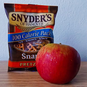 pretzels & apple