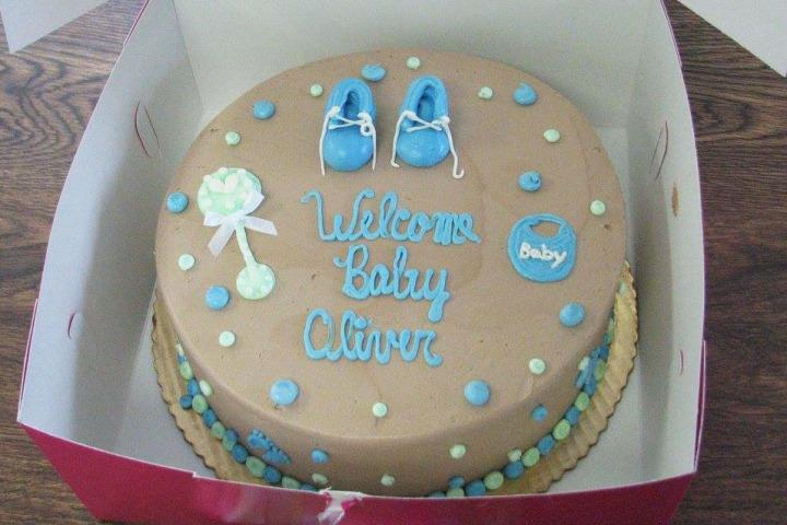 cake, baby, shower