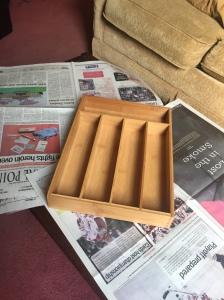 bamboo, cutlery tray