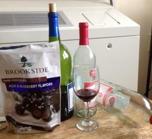 wine and acai berries