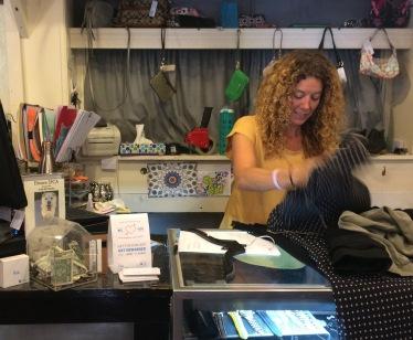 owner bagging clothes