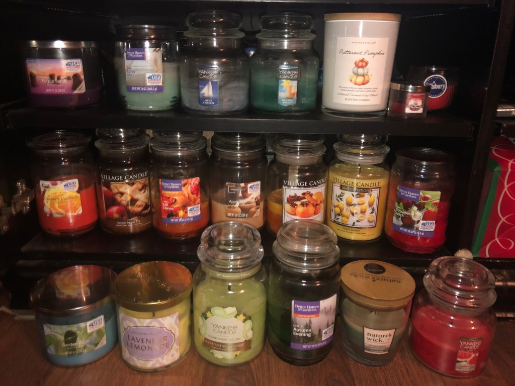 Staff writer Jessica's candle collection.