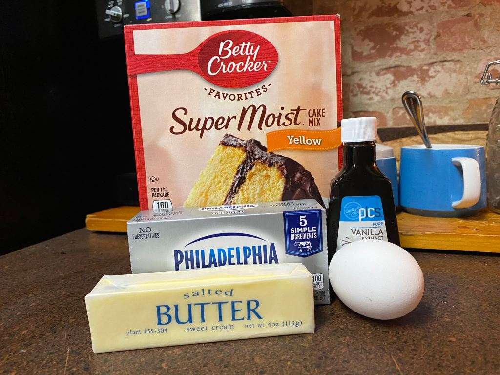 All the required ingredients for this recipe.
