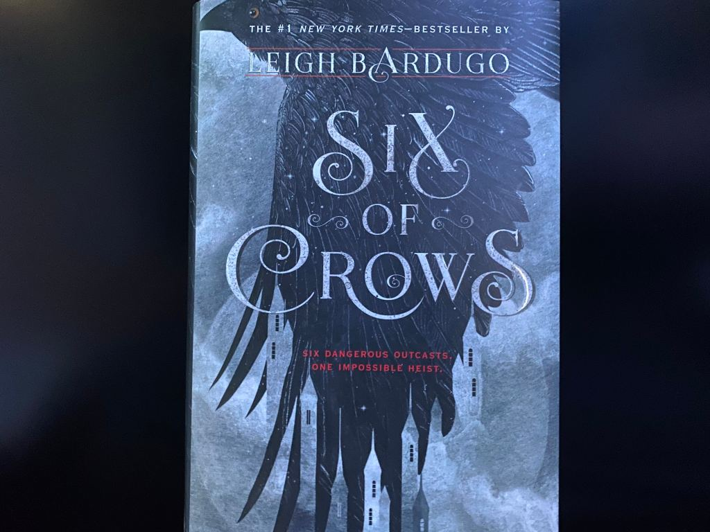"Front cover of ""Six of Crows."""