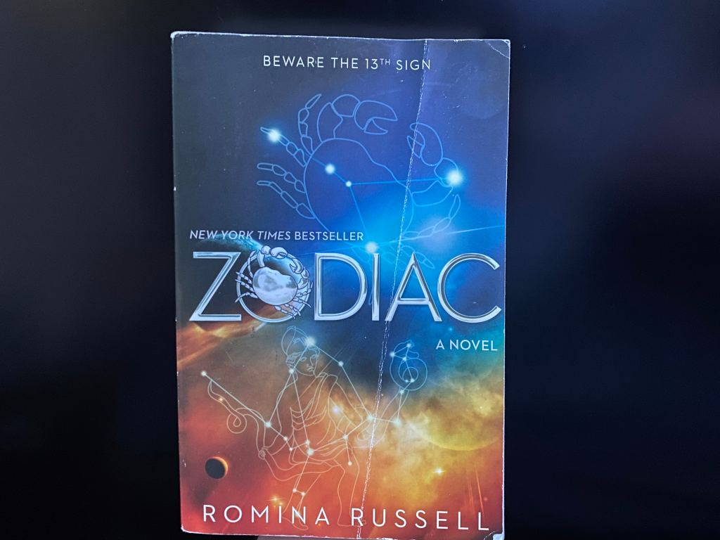 "Front cover of ""Zodiac."""